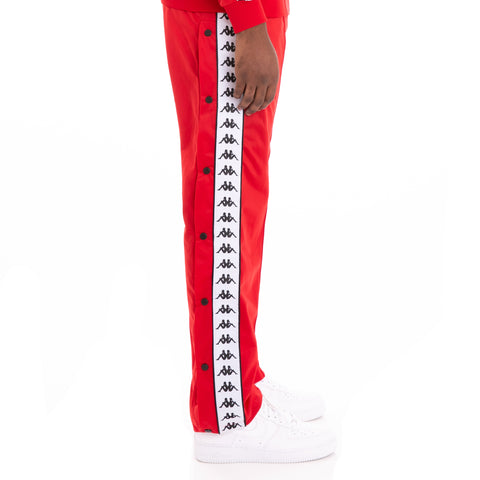 222 Banda Astoriazz Snap Alternating Banda Red Black White Trackpants