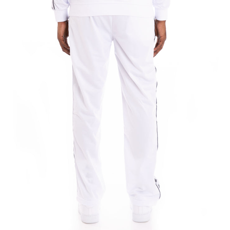 Kappa 222 Banda Astoriazz Alternating Banda White Black Trackpants