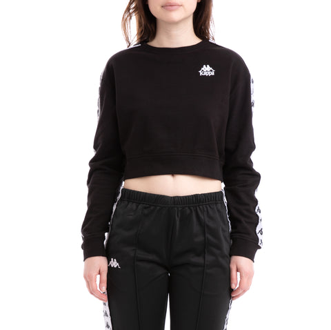 Kappa 222 Banda Ays Alternating Banda Black White Sweatshirt