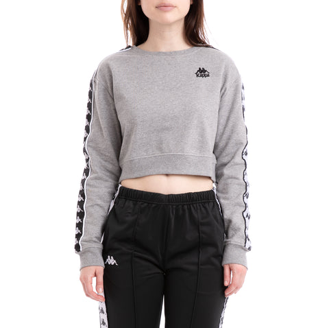 Kappa 222 Banda Ays Alternating Banda Grey Black White Sweatshirt