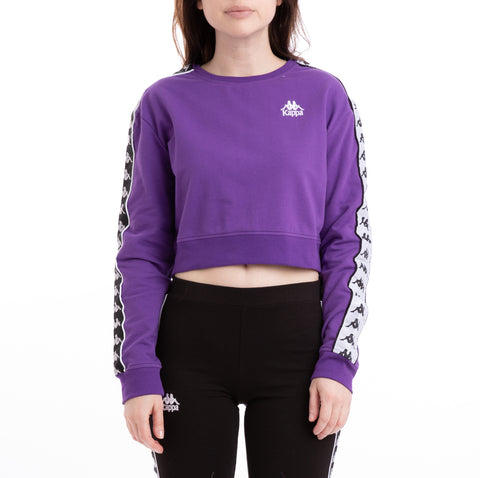 Kappa 222 Banda Ays Alternating Banda Violet Black White Sweatshirt