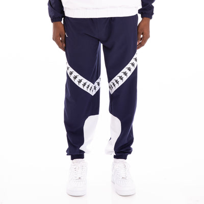 Kappa 222 Banda Balmar Blue Marine White Trackpants