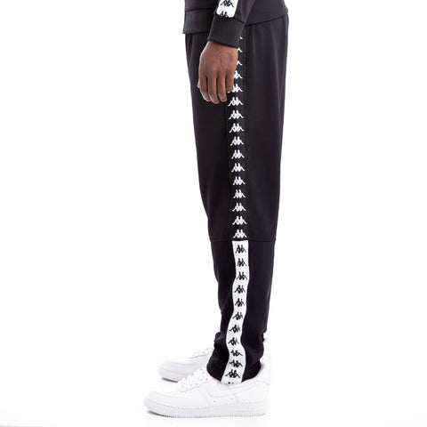 Kappa 222 Banda Baris Black White Trousers