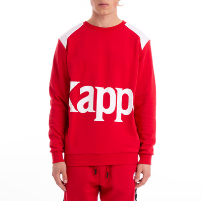Kappa 222 Banda Bernel Red White Sweatshirt