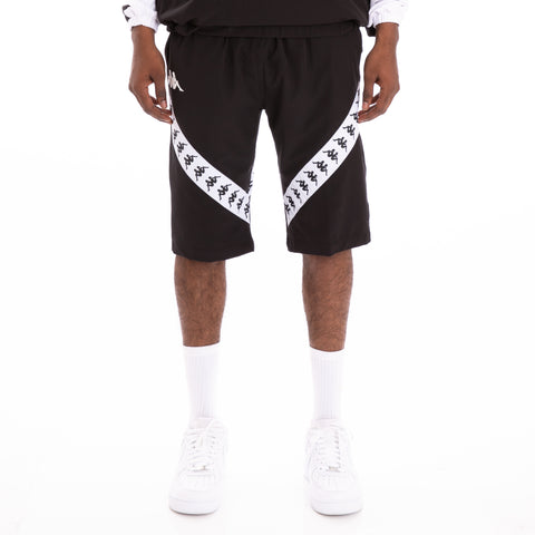 Kappa 222 Banda Berwo Black White Shorts