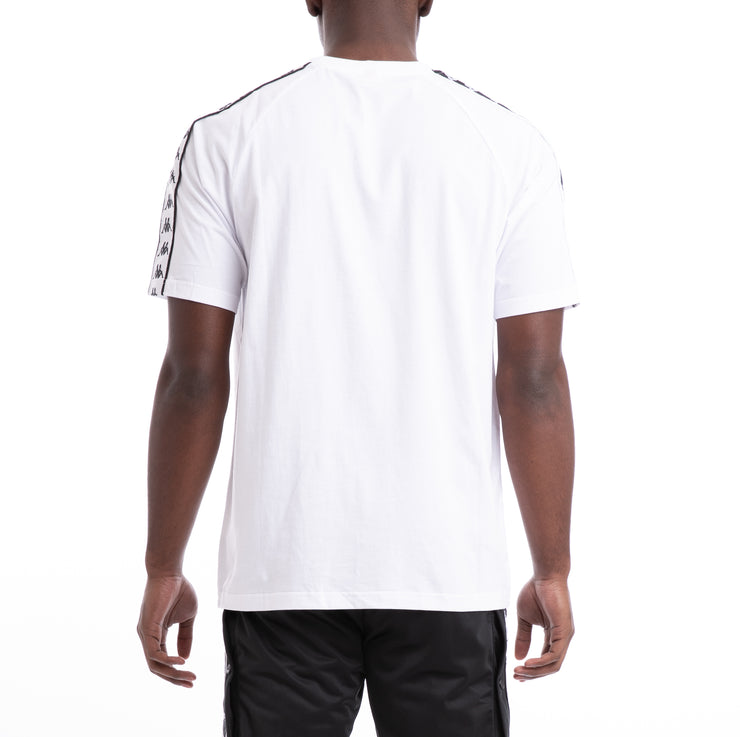 Kappa 222 Banda Coen Alternating Banda White Black T-Shirt