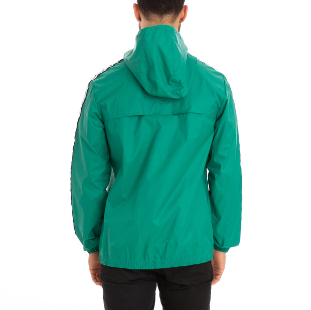 Kappa 222 Banda Dawson Alternating Banda Green Black White Jacket