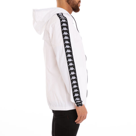 Kappa 222 Banda Dawson Alternating Banda White Black Jacket