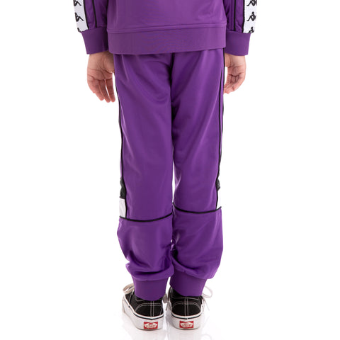 Kids 222 Banda Mems Slim Violet Black White Trackpants