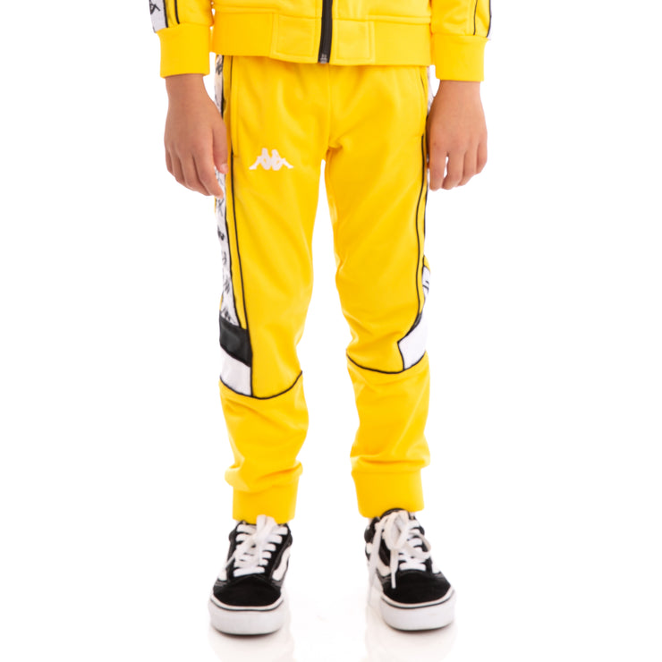 Kids 222 Banda Mems Slim Yellow Black White Trackpants