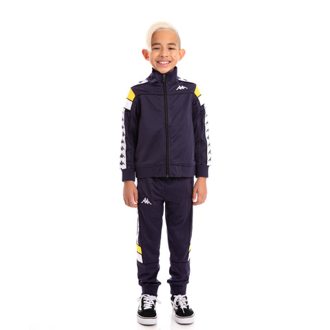 Kids 222 Banda Mems Slim BlueMar Yellow White Trackpants