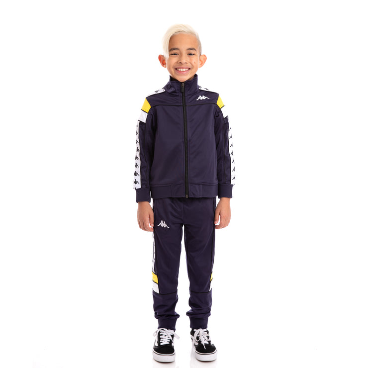 Kids 222 Banda Merez and Mems BlueMar Yellow White Track Suit Set