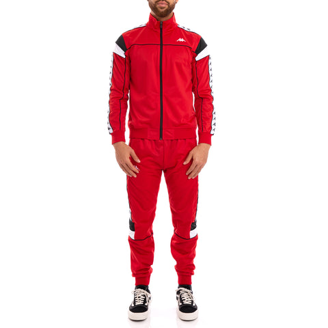 222 Banda Memzz Red Black White Trackpants