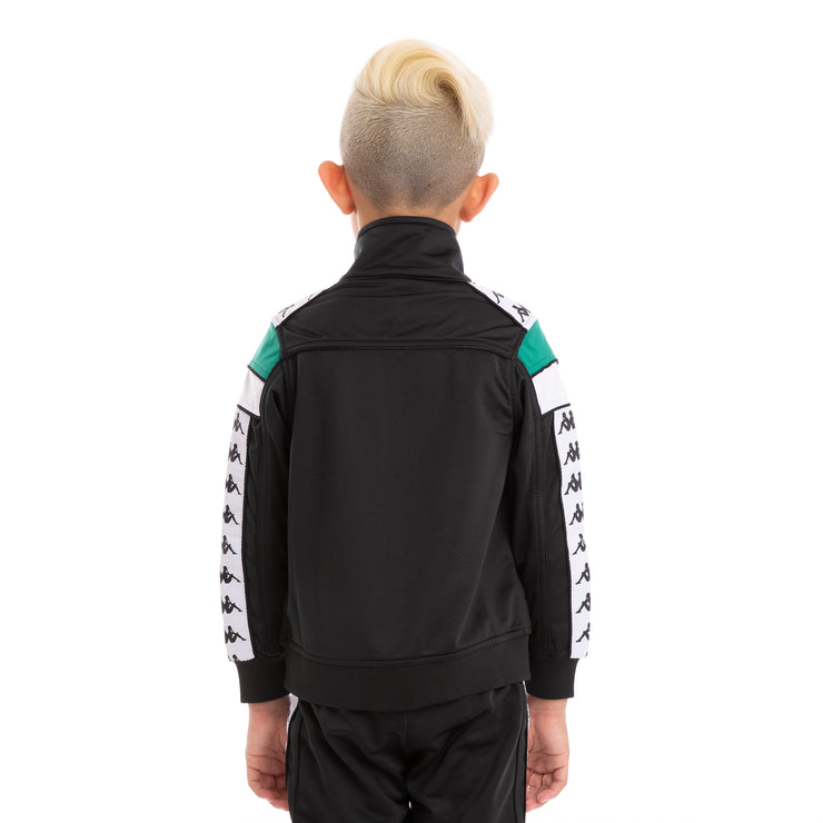 Kids 222 Banda Merez Slim Black Green White Track Jacket_3