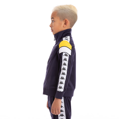 Kids 222 Banda Merez Slim BlueMar Yellow White Track Jacket_2