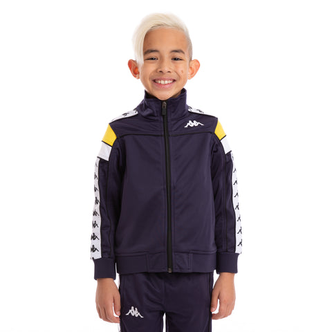 Kids 222 Banda Merez Slim BlueMar Yellow White Track Jacket_1
