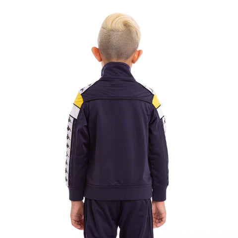 Kids 222 Banda Merez Slim BlueMar Yellow White Track Jacket_3