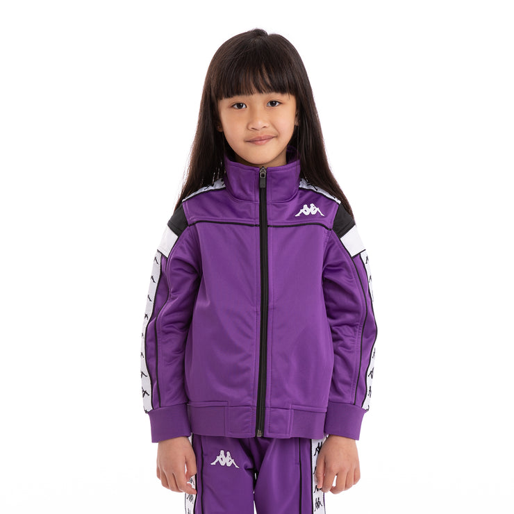 ea79699ace Kids 222 Banda Merez Slim Violet Black White Track Jacket – Kappa USA