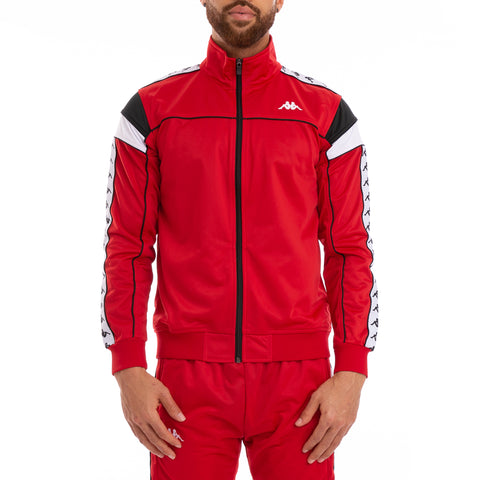222 Banda Merez Slim Red Black White Track Jacket
