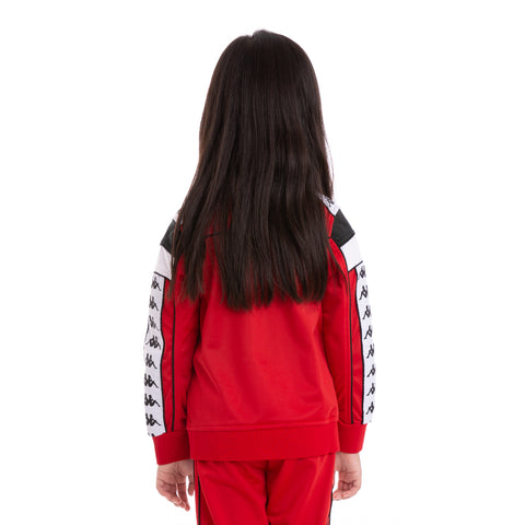 Kids 222 Banda Merez Slim Red Black White Track Jacket