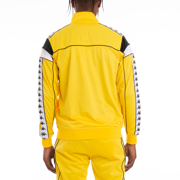 222 Banda Merez Slim Yellow Black White Track Jacket