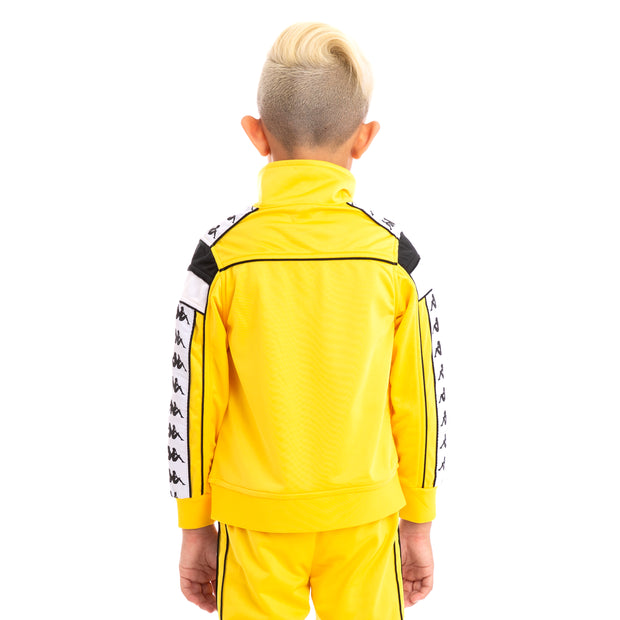 Kids 222 Banda Merez Slim Yellow Black White Track Jacket