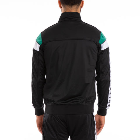 222 Banda Merez Slim Black Green White Track Jacket