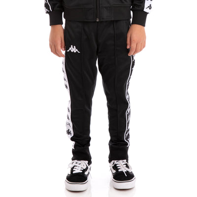 Kids 222 Banda Rastoria Slim Alternating Banda Black White Trackpants