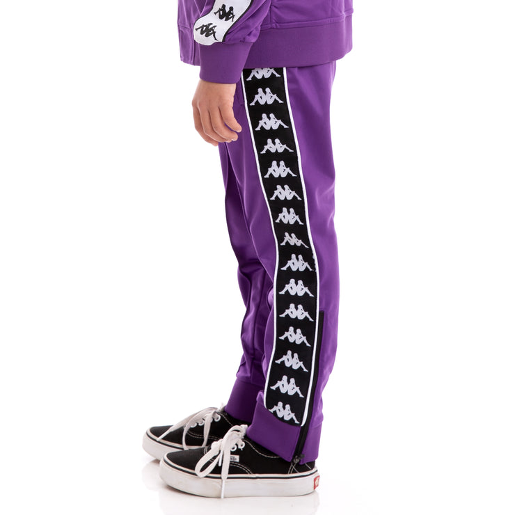 Kids 222 Banda Rastoria Slim Violet Black White Trackpants_4