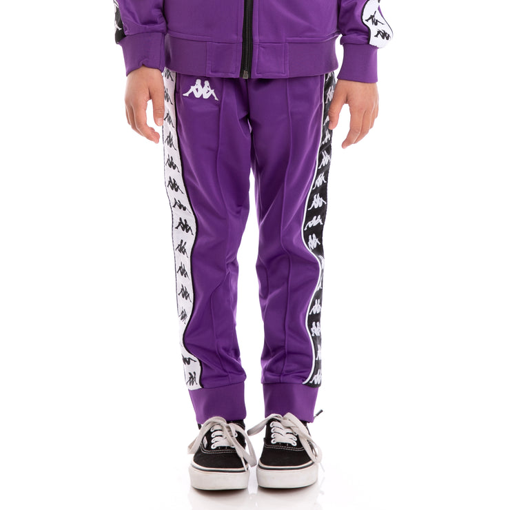 Kids 222 Banda Rastoria Slim Violet Black White Trackpants_1