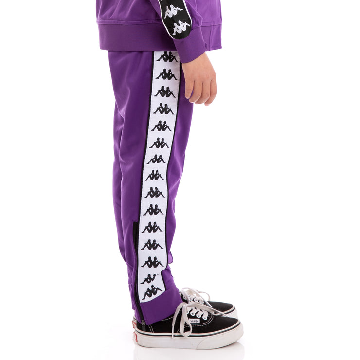 Kids 222 Banda Rastoria Slim Violet Black White Trackpants_3