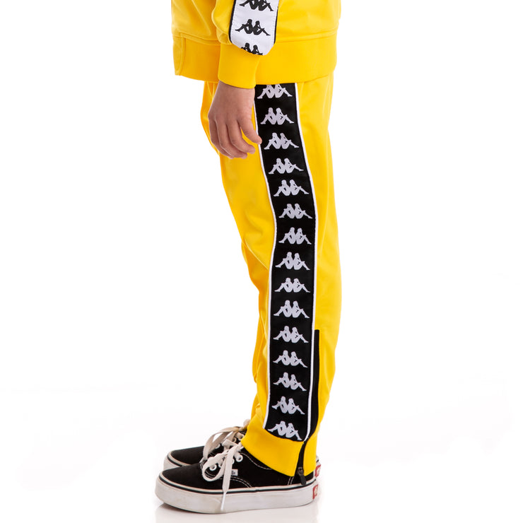 Kids 222 Banda Rastoria Slim Alternating Banda Yellow Black White Trackpants
