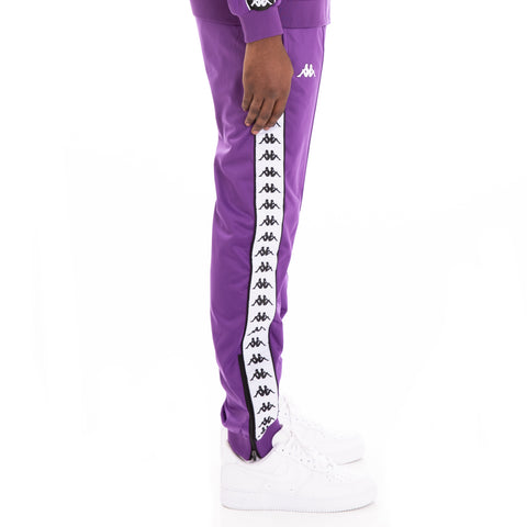 Kappa 222 Banda Rastoriazz Alternating Banda Violet Black White Trackpants
