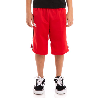 Kids 222 Banda Treadwell Alternating Banda Red Black White Shorts