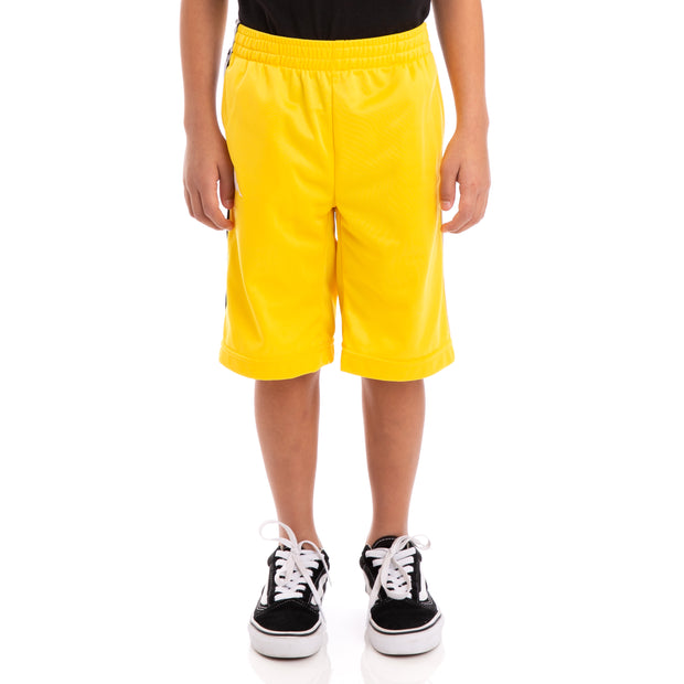 Kids 222 Banda Treadwell Alternating Banda Yellow Black White Shorts