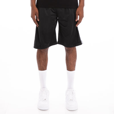 222 Banda Treadwellz Alternating Banda Black White Shorts
