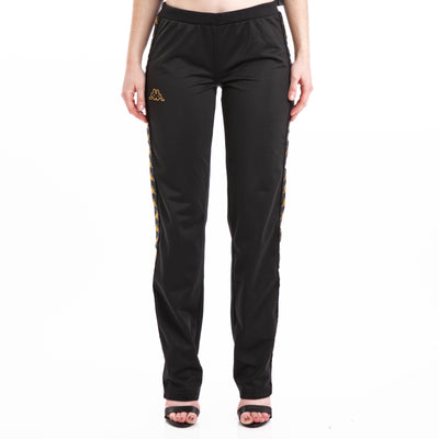 Kappa 222 Banda Wastoria Black Gold Trackpants