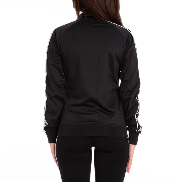 222 Banda Wanniston Slim Alternating Banda Black White Track Jacket