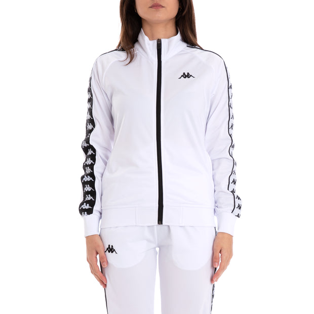 222 Banda Wanniston Slim Alternating Banda White Black Track Jacket