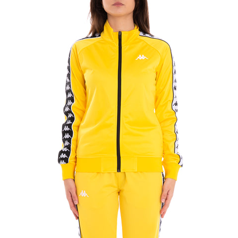 222 Banda Wanniston Slim Alternating Banda Yellow Black White Track Jacket