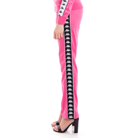 222 Banda Wastoria Alternating Banda Fuchsia Black White Pants