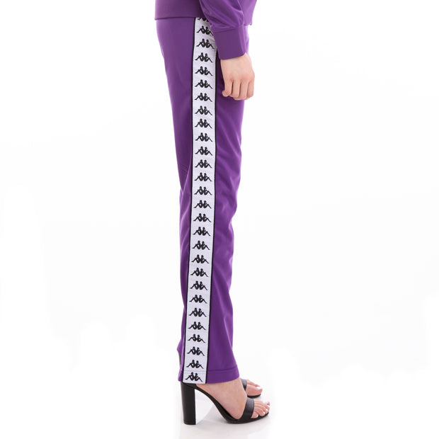 222 Banda Wastoria Alternating Banda Violet Black White Pants