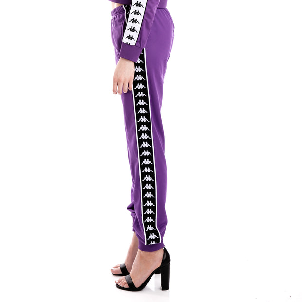 222 Banda Wrastoria Slim Alternating Banda Violet Black White Track Pants