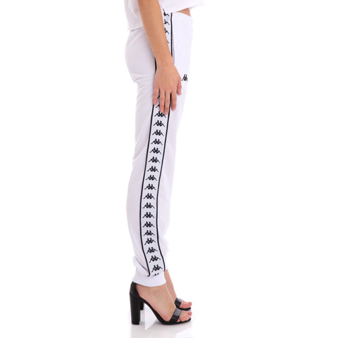 222 Banda Wrastoria Slim Alternating Banda White Black Track Pants