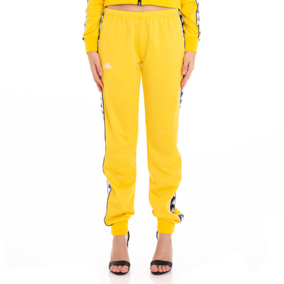 222 Banda Wrastoria Slim Alternating Banda Yellow Black White Track Pants