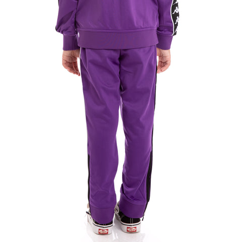 Kids 222 Banda Rastoria Slim Violet Black White Trackpants_2
