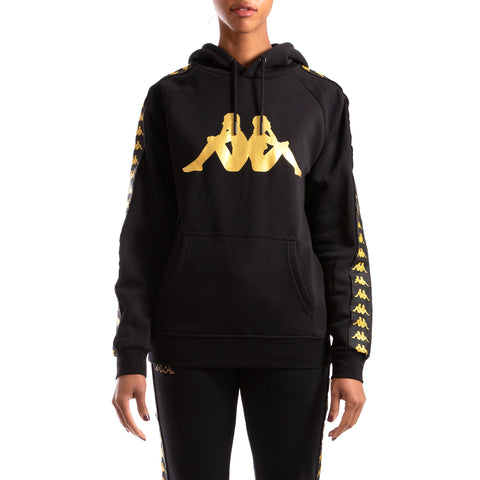 Kappa Authentic Banus Black Gold Hoodie
