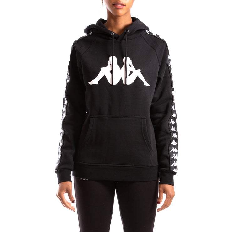 Kappa Authentic Banus Black Black White Hoodie