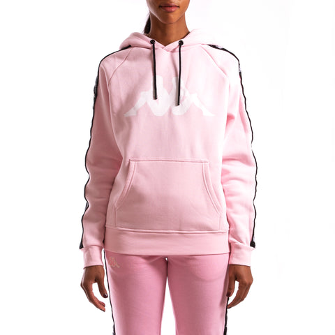 Kappa Authentic Banus Pink Black Hoodie