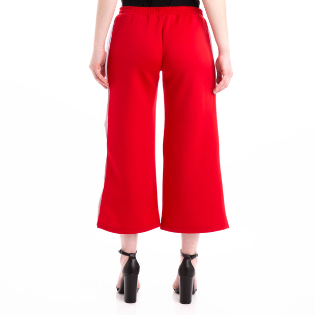 Kappa Authentic Barsi Red White Snap Pants
